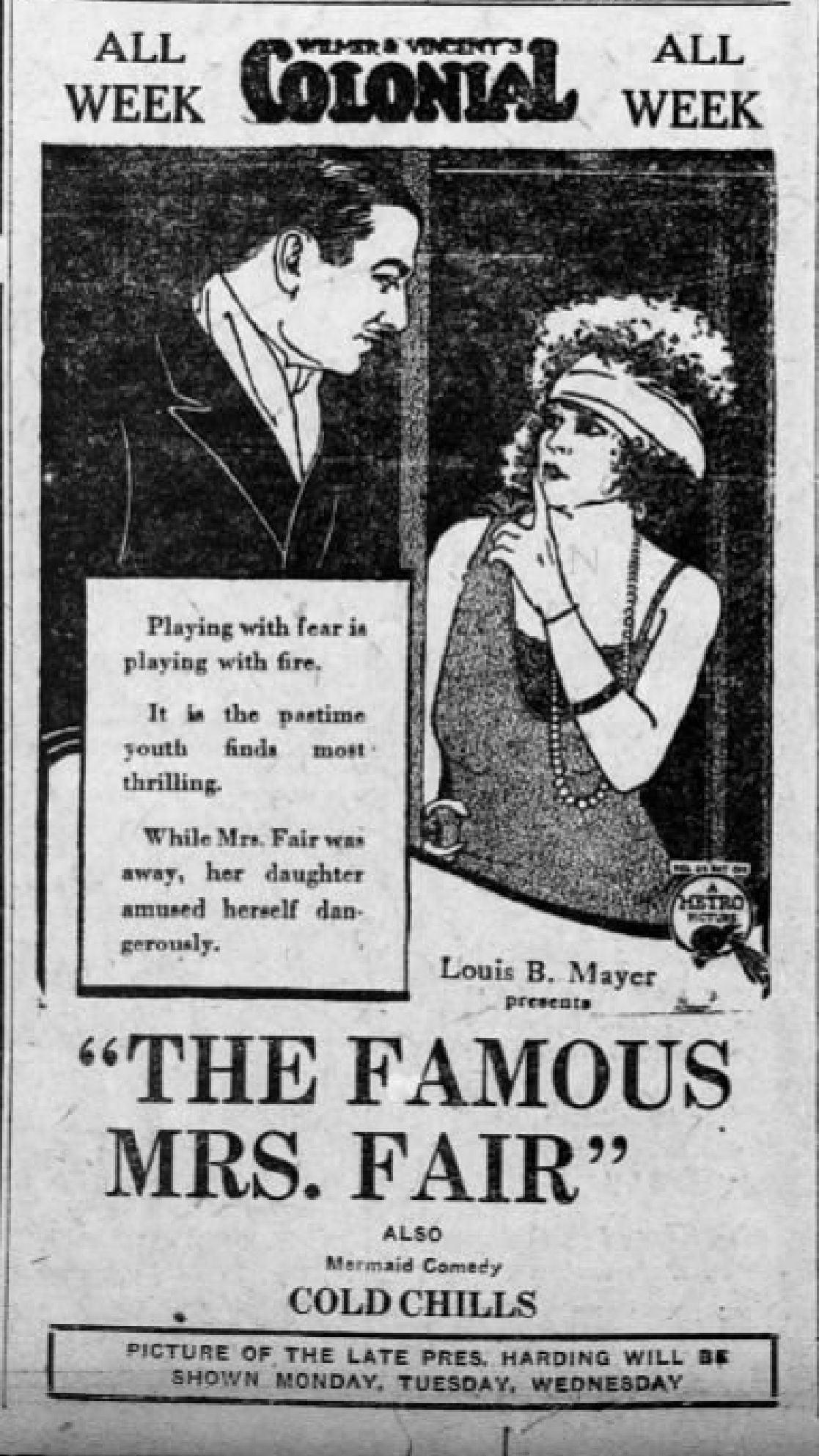 The Famous Mrs. Fair