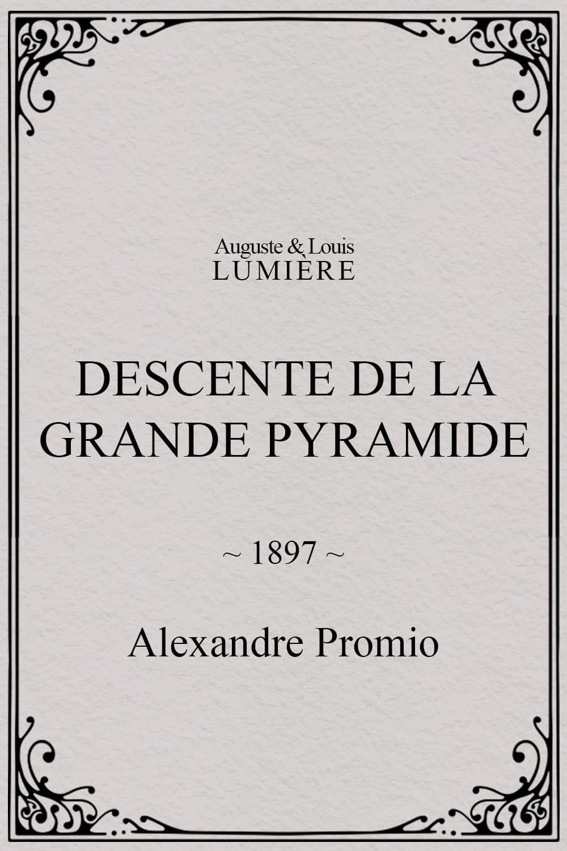 Descente de la grande pyramide