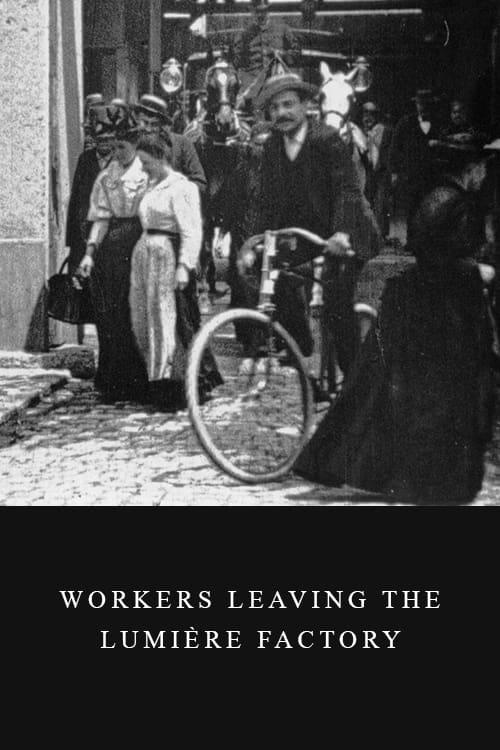 Arbeiter verlassen die Lumière-Werke