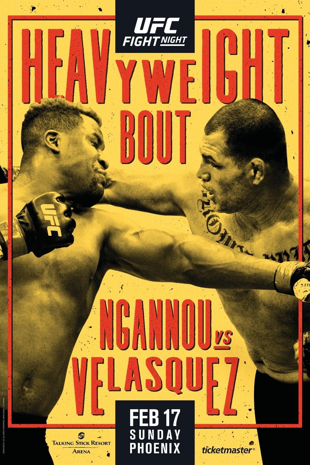 UFC on ESPN 1: Ngannou vs. Velasquez