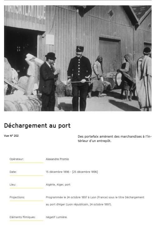 Alger : déchargement au port