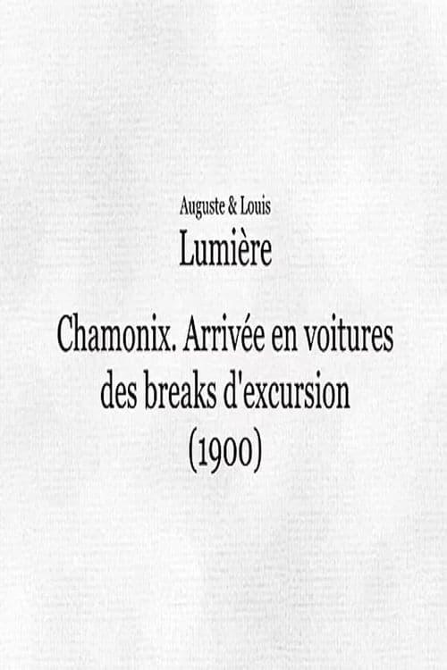 Chamonix: Arrivée en voitures des breaks d'excursion