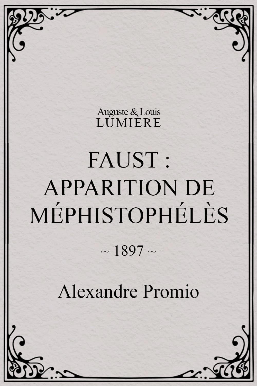 Faust : apparition de Méphistophélès