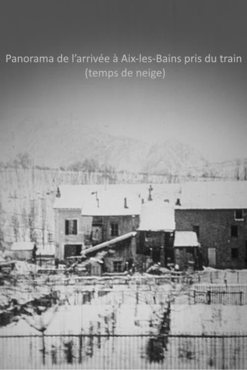 Panorama de l'arrivée à Aix-les-Bains pris du train (temps de neige)