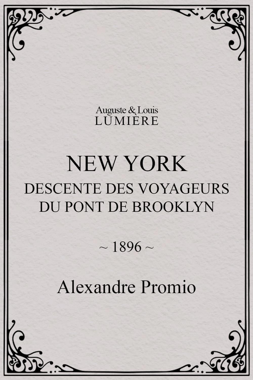 New York, descente des voyageurs du pont de Brooklyn