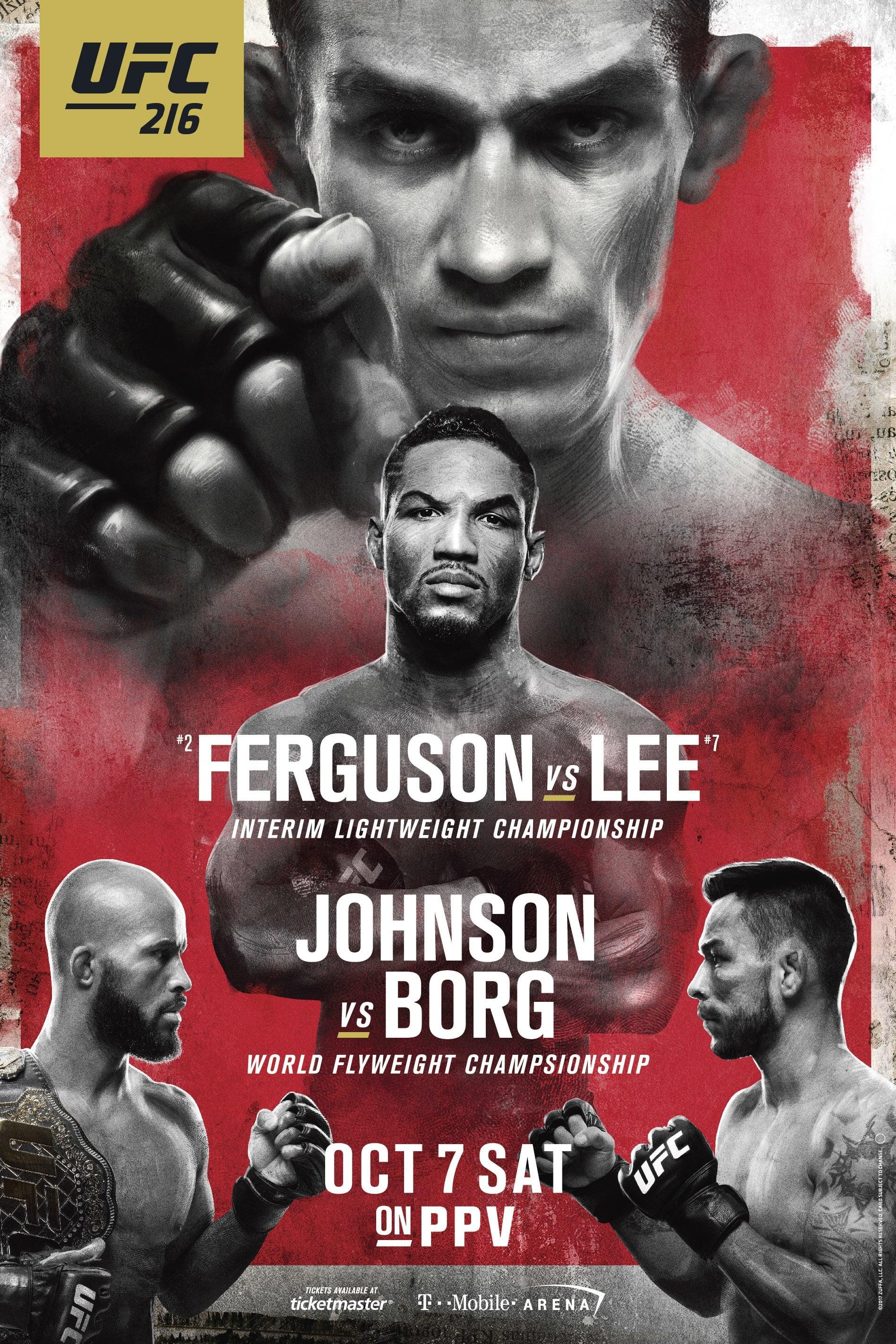 UFC 216: Ferguson vs. Lee
