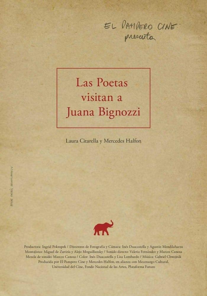 The Poets Visit Juana Bignozzi