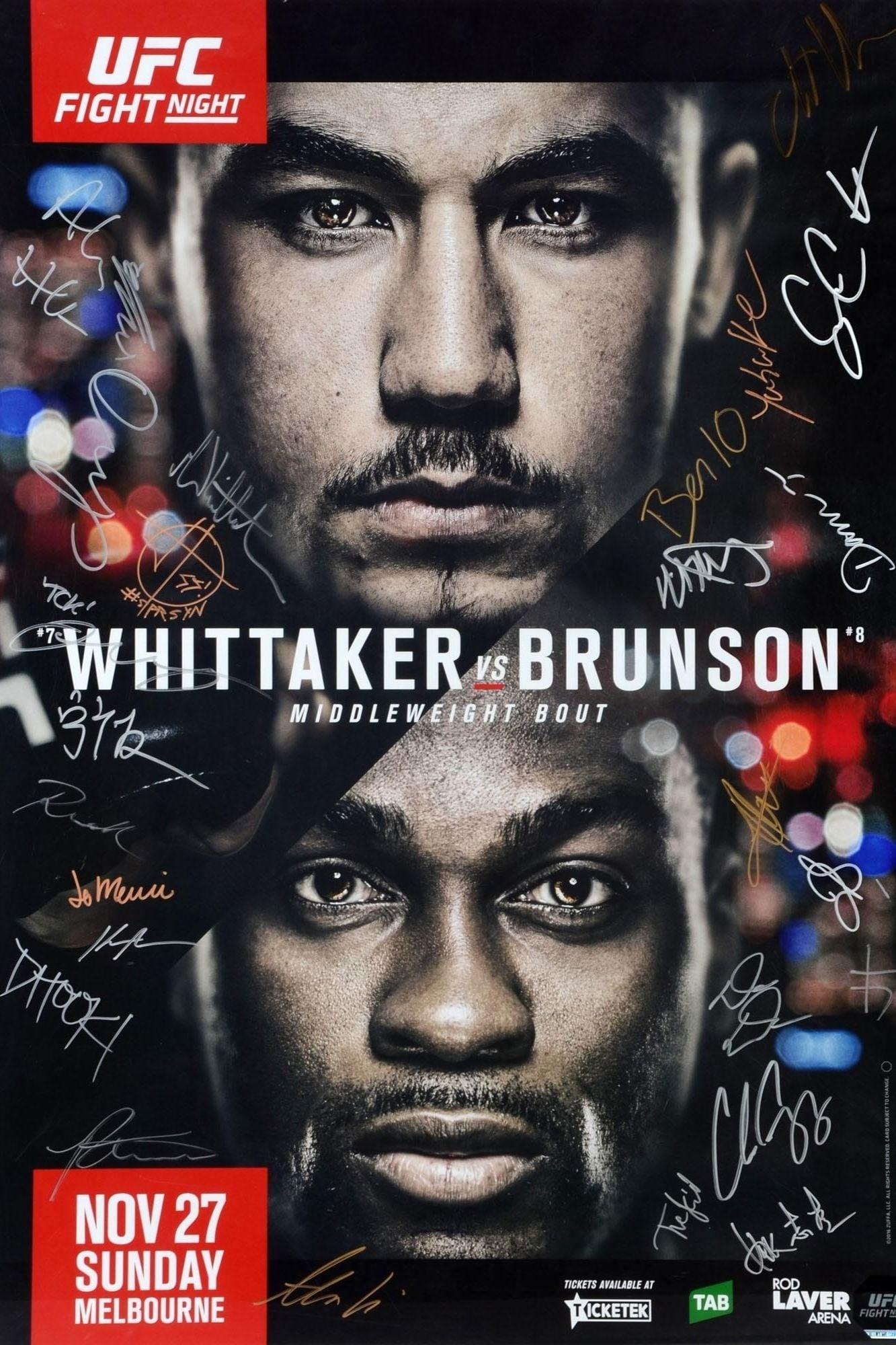 UFC Fight Night 101: Whittaker vs. Brunson