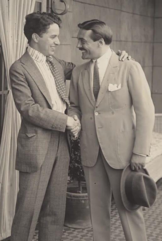 Max Linder Visits Charlie Chaplin