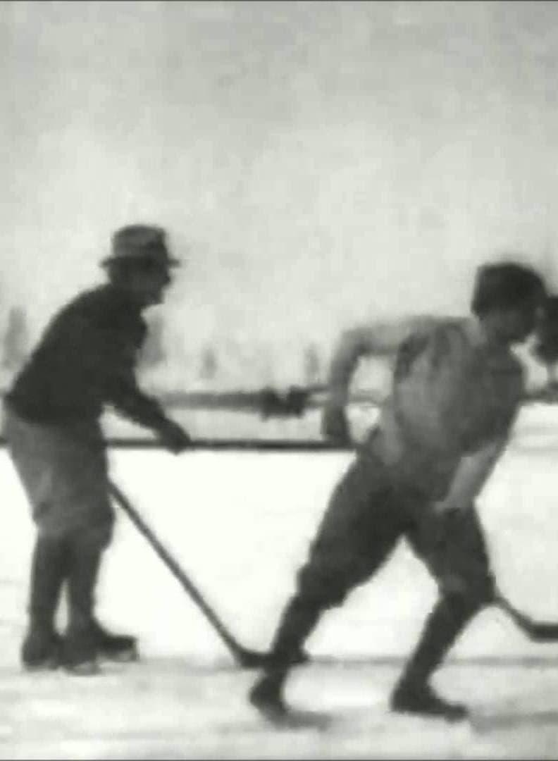 Hockey Match on the Ice