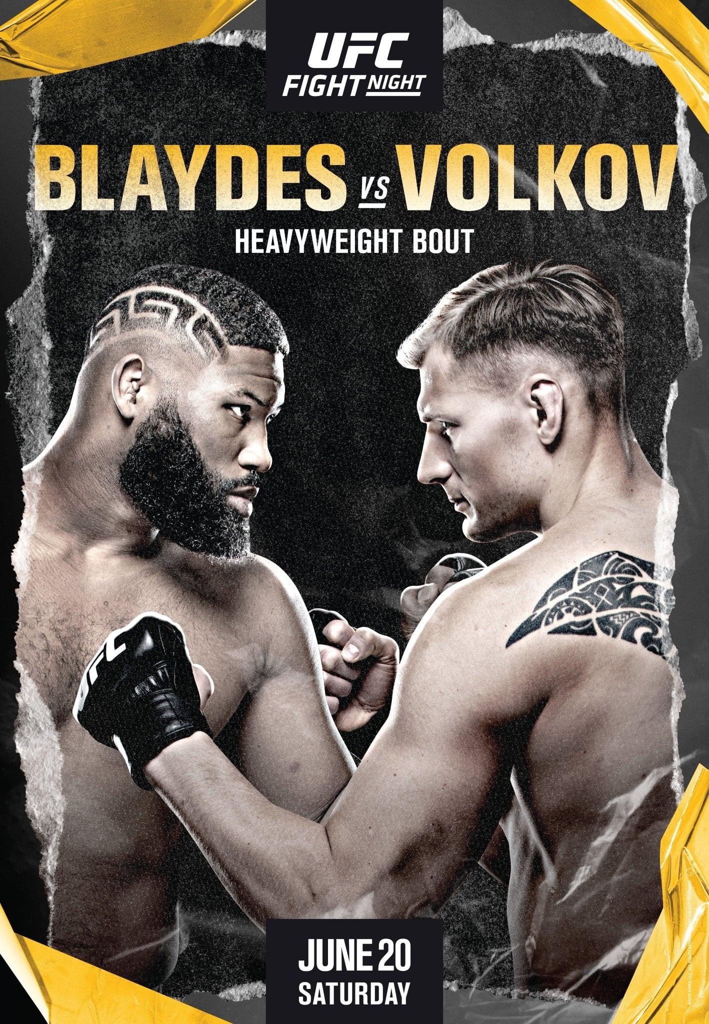 UFC on ESPN 11: Blaydes vs Volkov