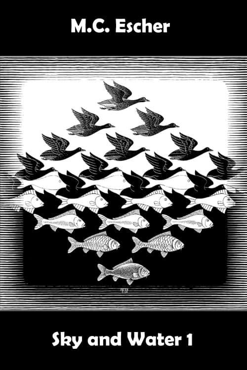 M.C. Escher: Sky and Water 1