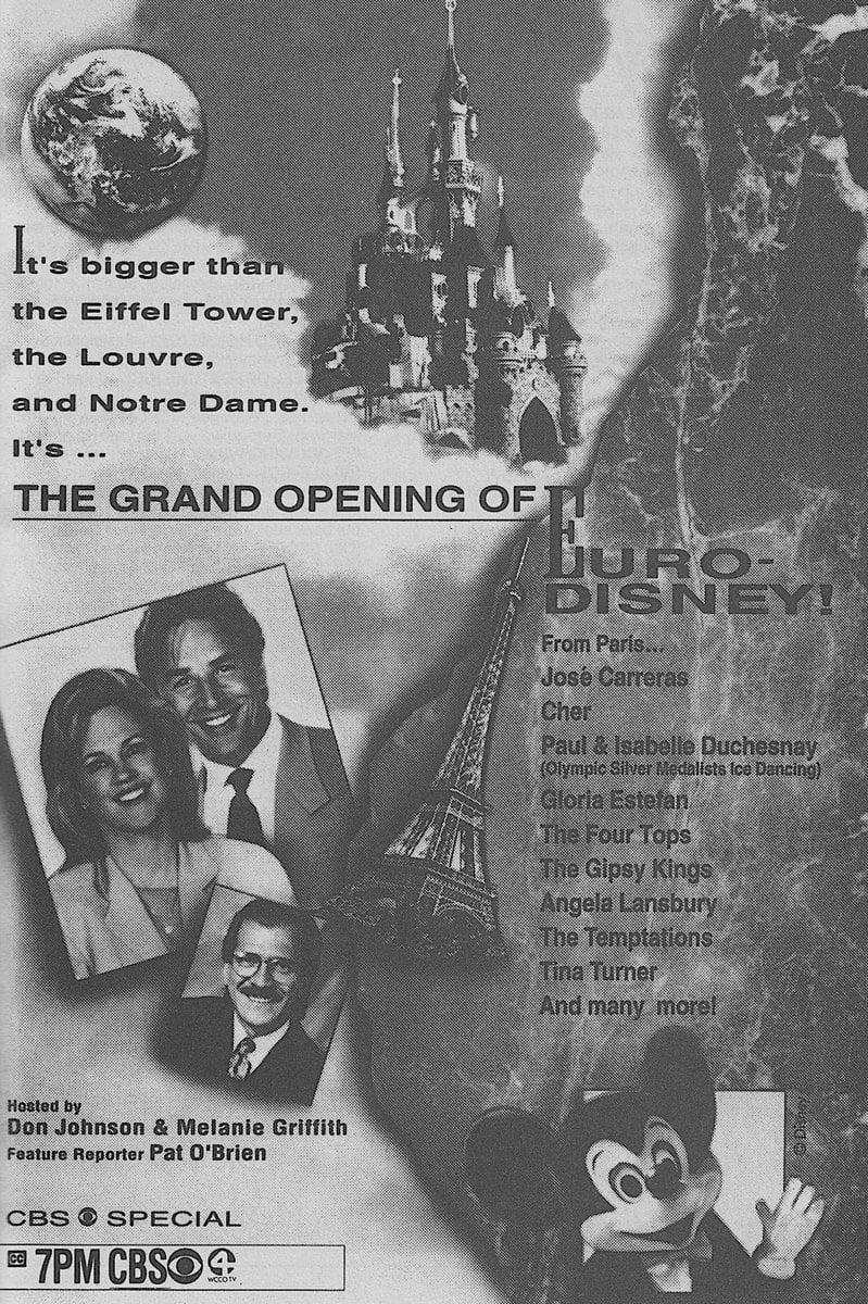 The Grand Opening of Euro Disneyland
