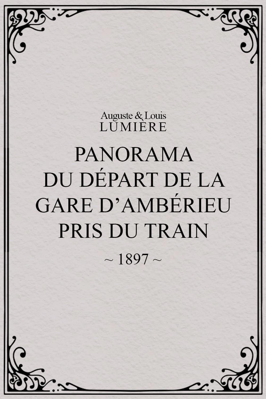Panorama du départ de la gare d'Ambérieu pris du train (temps de neige)