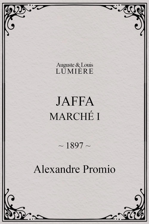 Jaffa : Marché, I