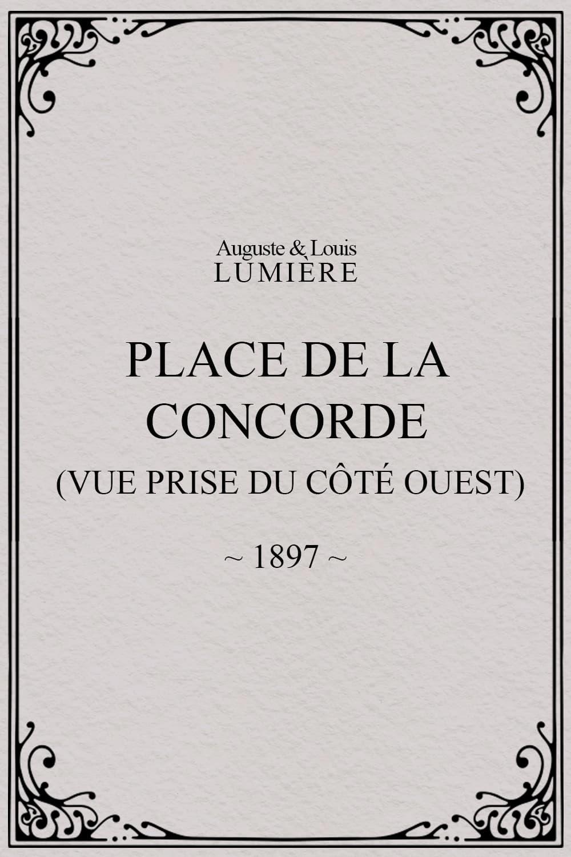 Place de la Concorde (vue prise du côté ouest)