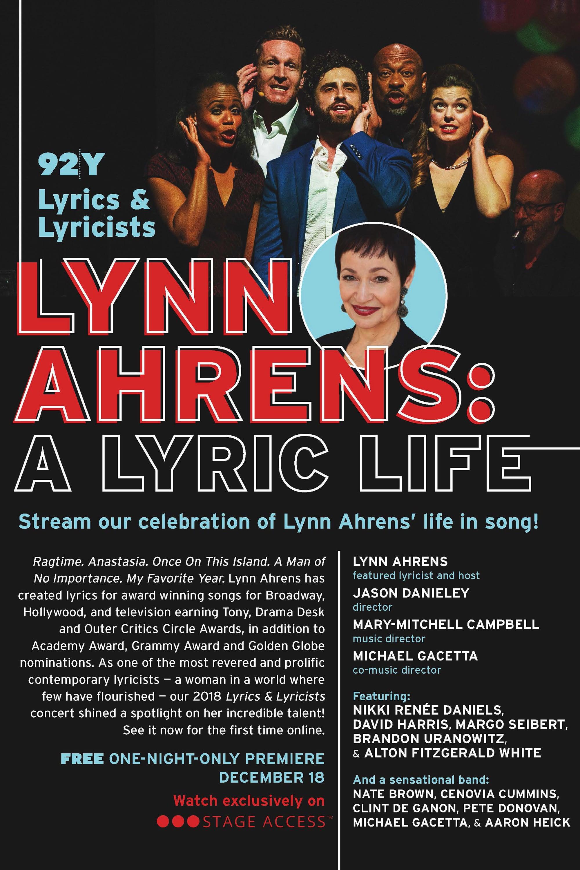 Lynn Ahrens: A Lyric Life