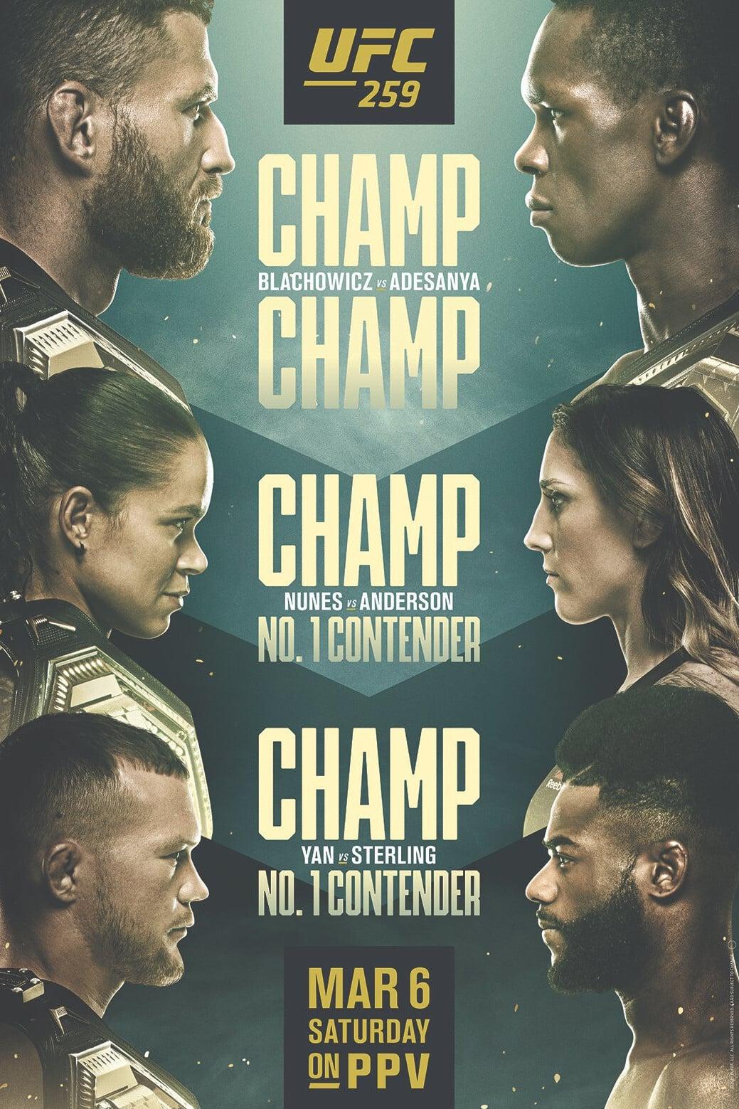 UFC 259: Blachowicz vs. Adesanya