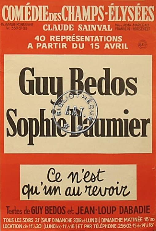Guy Bedos & Sophie Daumier - Ce n'est qu'un au revoir