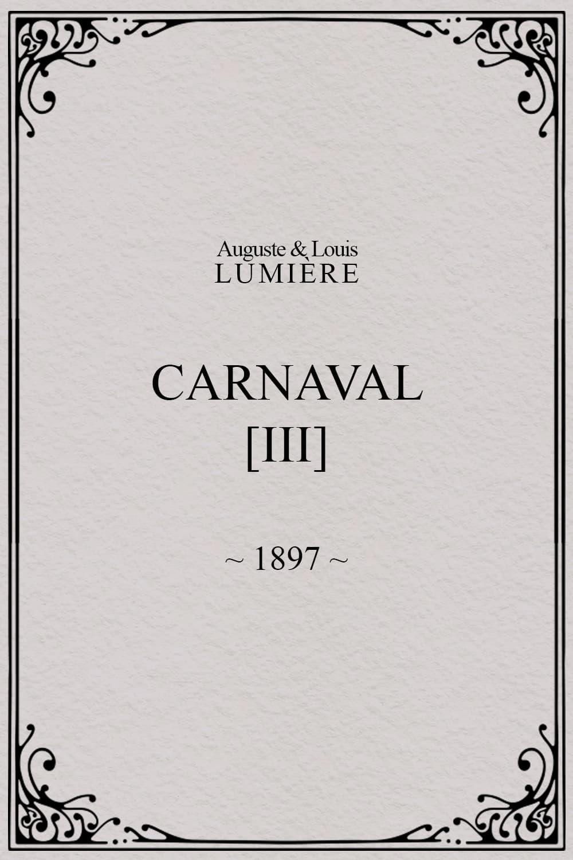 Carnaval, [III]