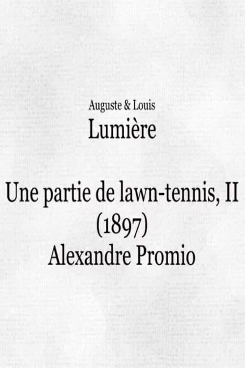 Une partie de lawn-tennis II