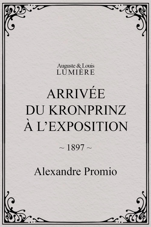 Arrivée du kronprinz à l'exposition