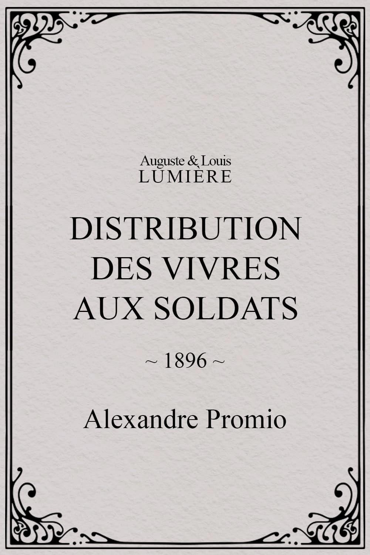 Distribution des vivres aux soldats