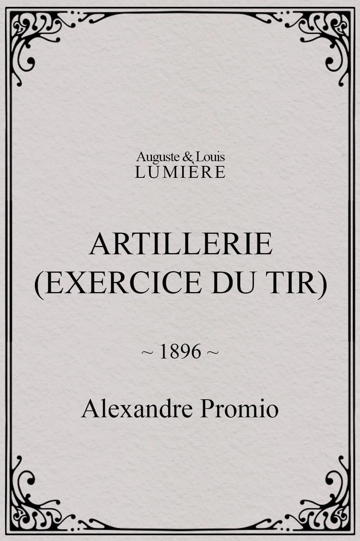 Artillerie (exercice du tir)