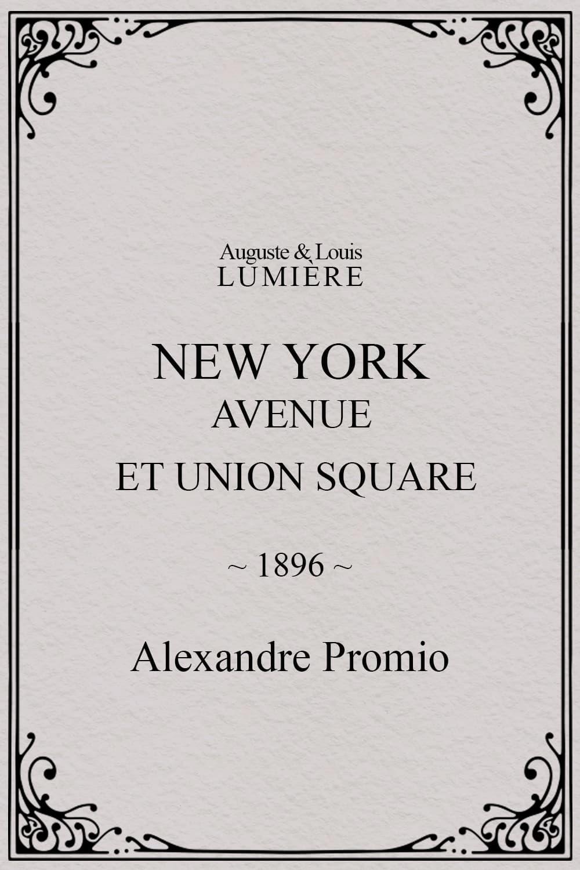 New York, Avenue et Union Square