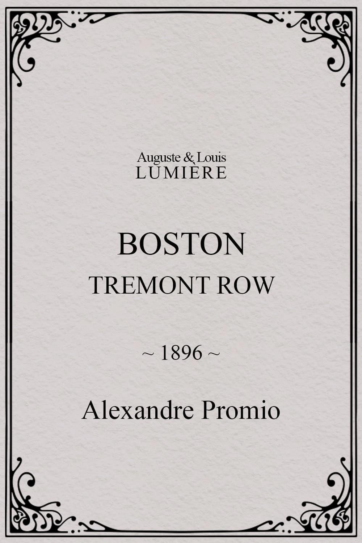 Boston, Tremont row