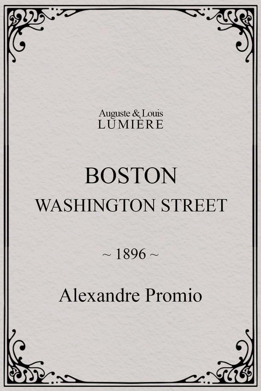 Boston, Washington street