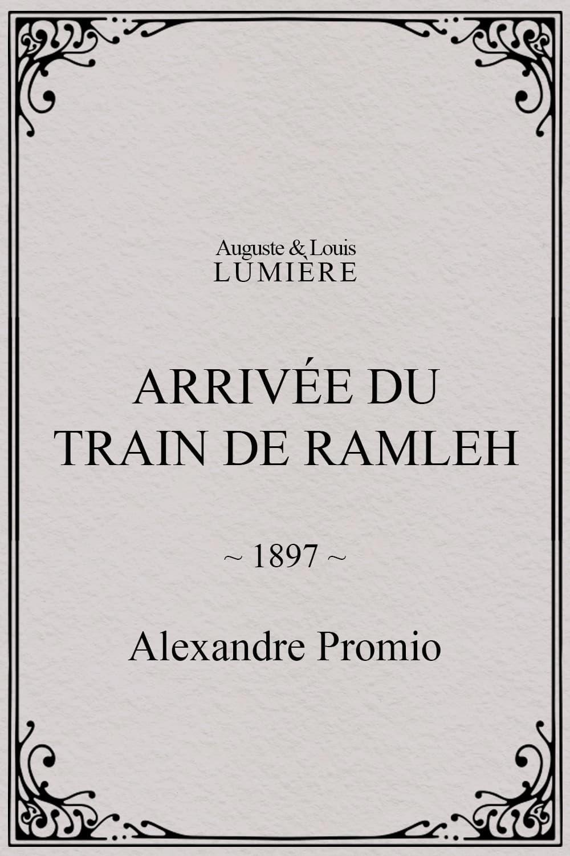 Arrivée du train de Ramleh