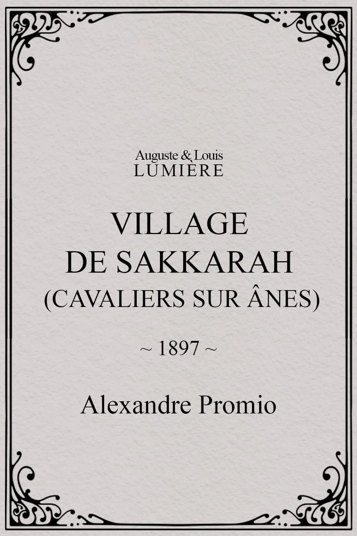 Village de Sakkarah (cavaliers sur ânes)