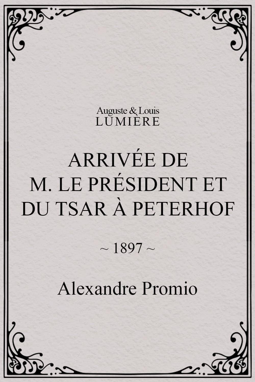 Arrivée de M. le président et du tsar à Peterhof
