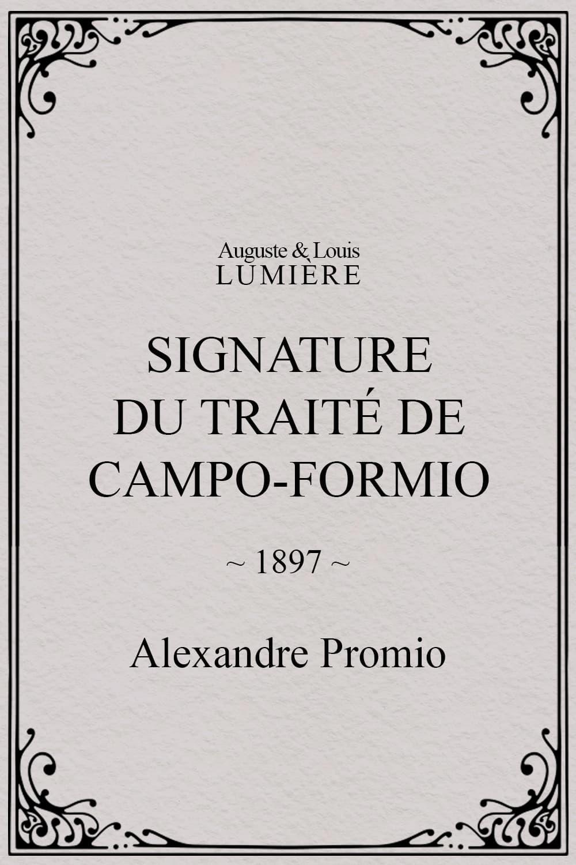 Signature du traité de Campo-Formio