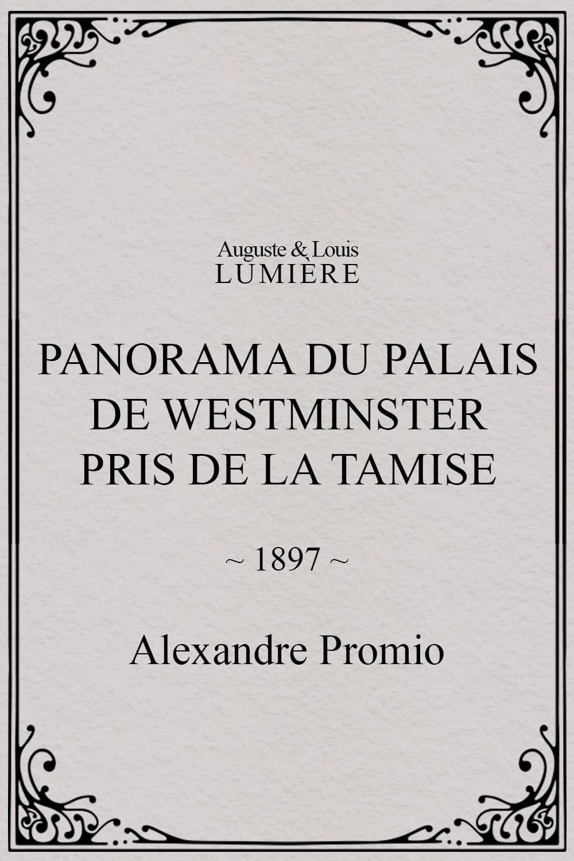 Panorama du palais de Westminster pris de la Tamise