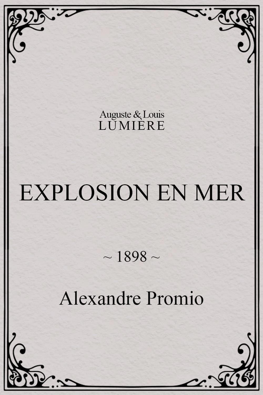 Explosion en mer