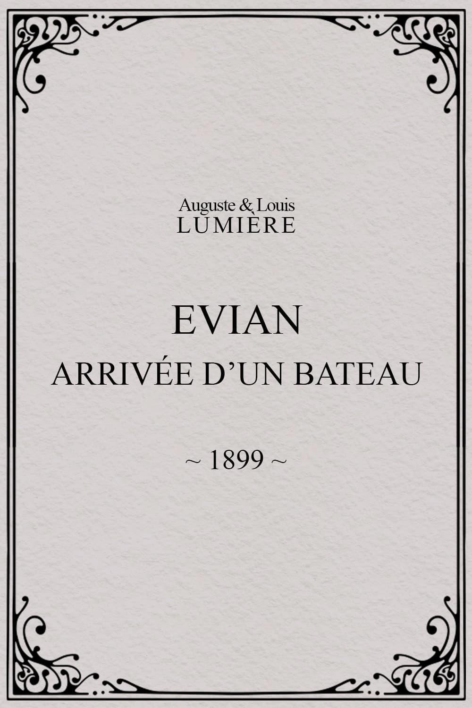 Evian : arrivée d'un bateau