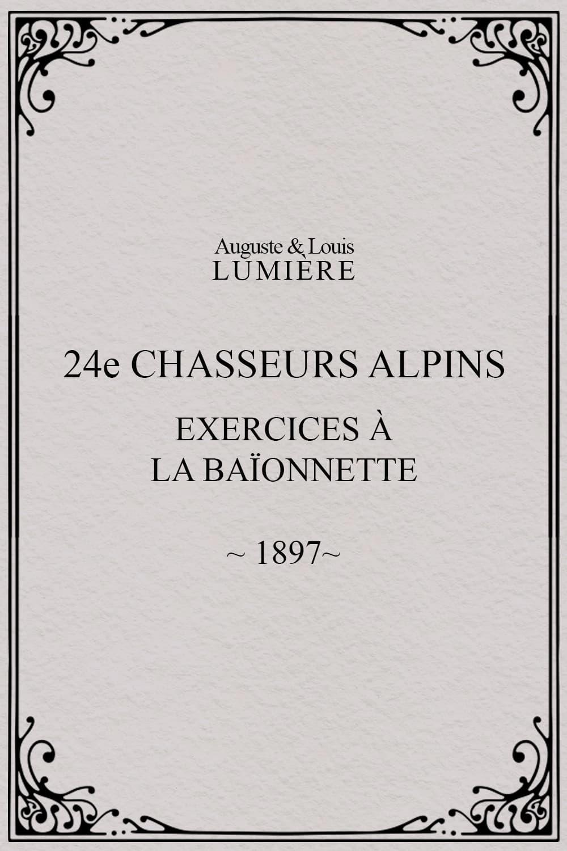 24ème chasseurs alpins : exercices à la baïonnette