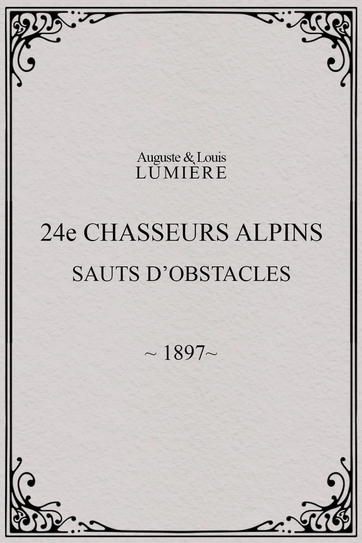 24ème chasseurs alpins : sauts d'obstacles