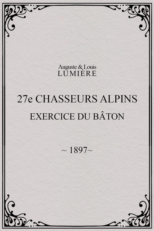27ème chasseurs alpins : exercice du bâton