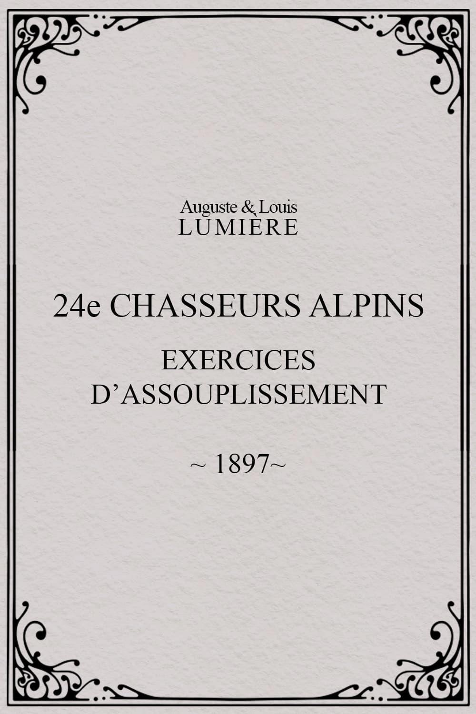 24ème chasseurs alpins : exercices d'assouplissement