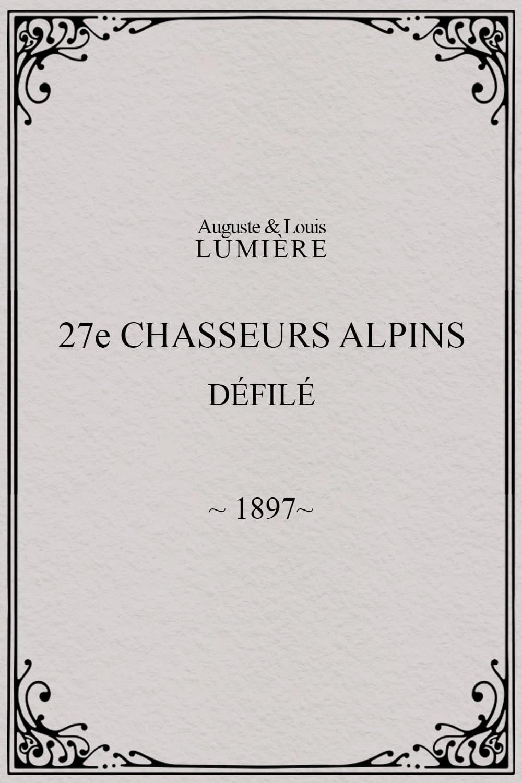 27ème chasseurs alpins : défilé
