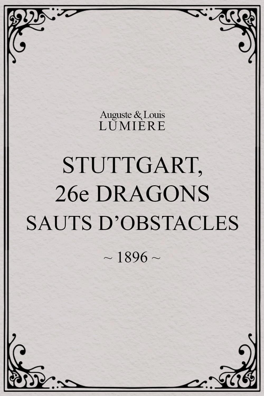 Stuttgart : 26ème dragons. Sauts d'obstacles