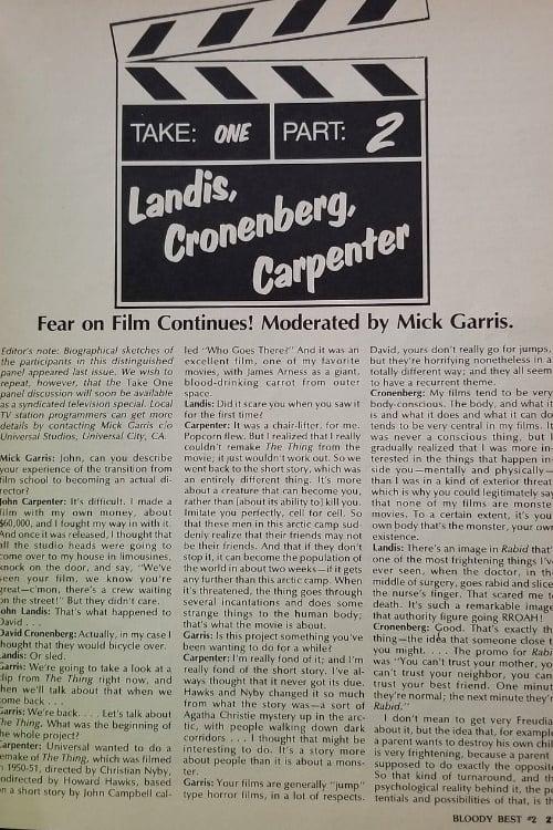 Take One: Fear on Film