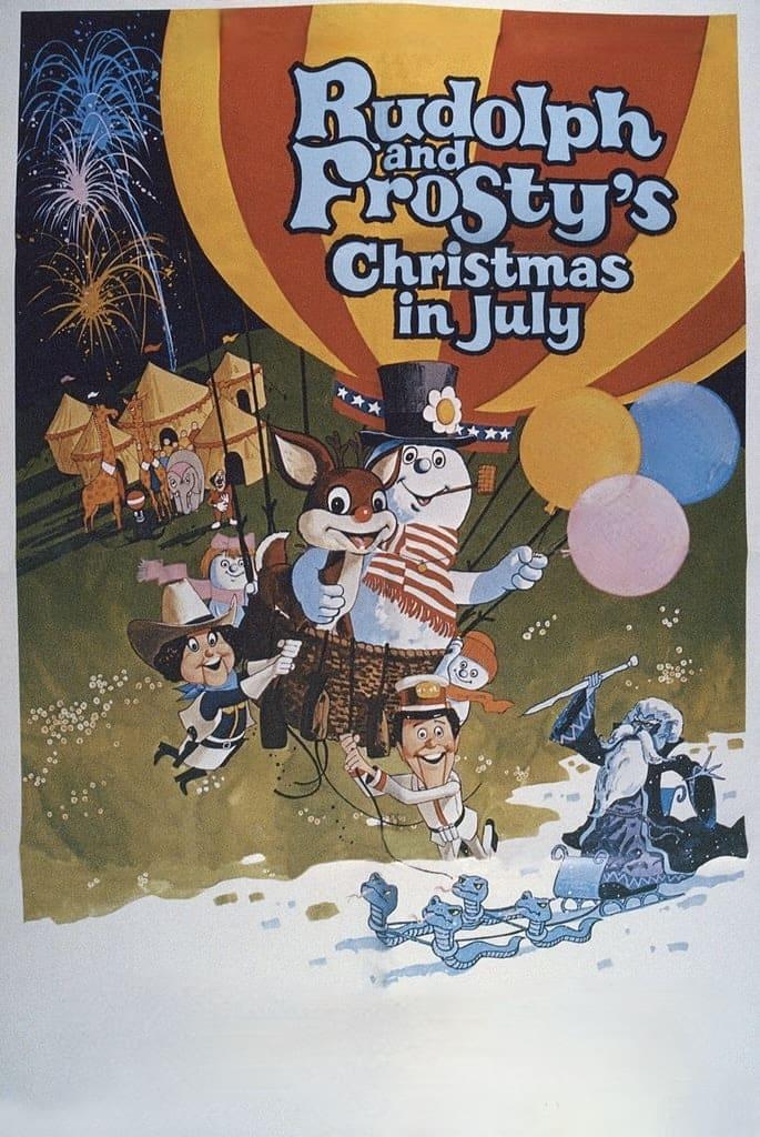 Rudolph y Frosty Navidad en Julio